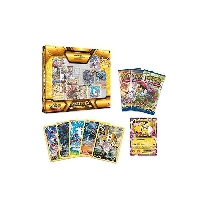 Coffret pok mon pikachu ex collection l gendaire en vf - Carte pokemon legendaire ex ...