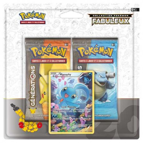 Duopack 2 booster pokémon collection générations MANAPHY full art