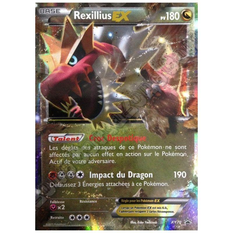 Grande carte pok mon rexillius ex pv180 xy70 jumbo etoile - Carte pokemon gratuite ...