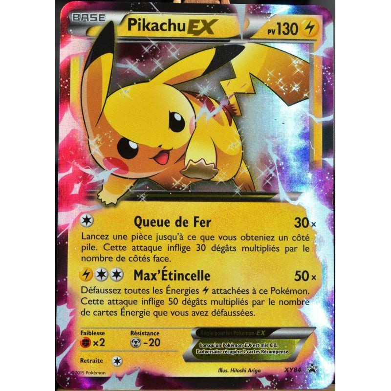Pikachu ex 130 pv xy 84 - Carte pokemon electhor ex ...