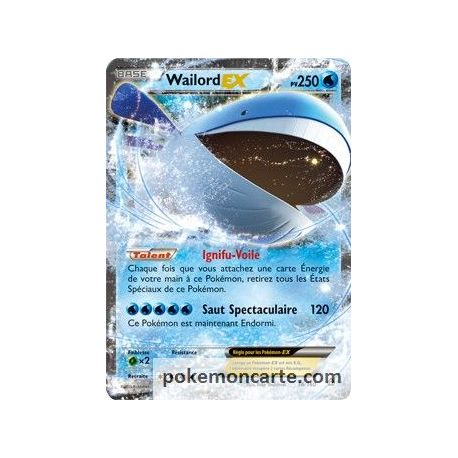 Wailord ex 250 pv 38 160 primo choc - Carte pokemon wailord ...