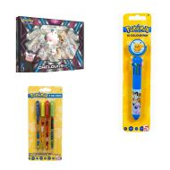 Pack Coffret Chelours GX + Stylo 10 Couleurs Pokémon + 4 Stylos Pokémon Gel