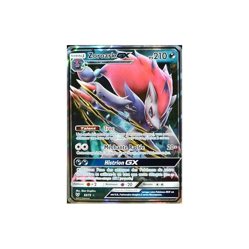 Carte Pokémon Zoroark Gx 210 Pv Sl3 5 53 73 Sl3 5 Légendes Bril