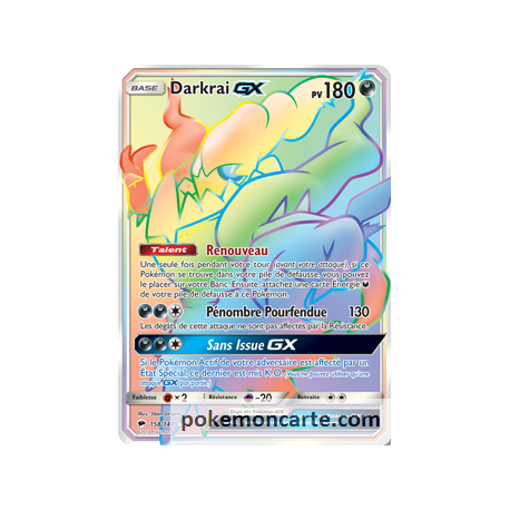 Darkrai GX pv 180 - Arc En Ciel - Carte Secrete 158/147