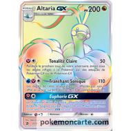 Altaria Gx pv200 - Arc en Ciel Carte Pokemon SECRETE 72-70 Majeste des dragons sl7.5